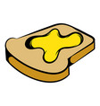 slice of bread with honey icon icon cartoon vector image