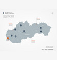 slovakia infographic map vector image vector image