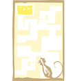 Small Mouse in Maze vector image