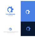 smart gear logo design vector image vector image