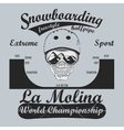 Snowboarding T-shirt winter sport emblem vector image vector image