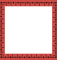 square frame with greek floral ornament vector image vector image