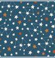 stars and constellations seamless pattern vector image vector image
