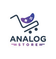 store logo sales joystick game vector image vector image