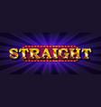 straight online poker casino vector image vector image