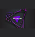 template black abstract background with purple vector image vector image