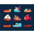 Water Transport Toy Icon Collection vector image vector image