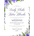 wedding floral invite save the date card vector image vector image