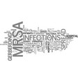 what you need to know about mrsa text word cloud vector image vector image