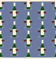 wine and glasses pattern vector image vector image