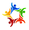 Winner Group people 4 Logo design element vector image vector image