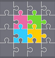 background from puzzles vector image