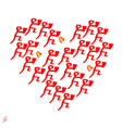 symbol of the heart design elements for vector image