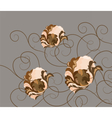 Abstract composition with flowers and ornaments vector image