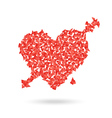 Abstract red heart with the arrow Valentines vector image