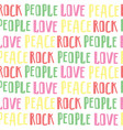abstract seamless pattern of words rock people vector image