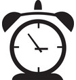 alarm clock icon isolated watch object time office vector image vector image