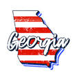 american flag in georgia state map grunge style vector image vector image