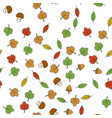 autumn flat seamless pattern on white vector image vector image