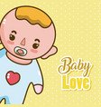 baby love cartoons vector image
