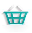 basket icon paper vector image vector image