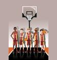 basketball team players vector image