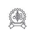 bio product line icon concept bio product vector image