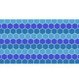 Blue hexagonal geometric background vector image vector image