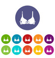 brassiere icon simple black style vector image vector image