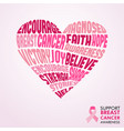 breast cancer awareness month pink love concept vector image vector image