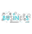 business word colorful lettering flat vector image vector image