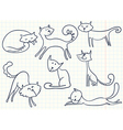 cats set vector image vector image