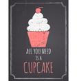 Chalkboard cupcake design vector | Price: 1 Credit (USD $1)