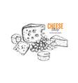 cheese shop concept 2 vector image vector image
