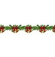 christmas horizontal seamless border background vector image vector image