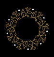 christmas wreath round frames set hand drawn vector image vector image