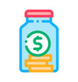 coins in jar icon outline vector image