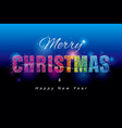 colorful merry christmas vector image vector image