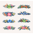cute little floral bouquets borders retro styled vector image vector image