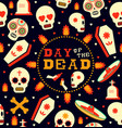 day of the dead emoji skull seamless pattern art vector image vector image