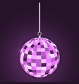 discoball purple vector image