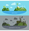Ecological Climate Banners vector image vector image