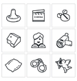 Erotic movies icons set vector image vector image
