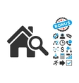 Explore House Flat Icon with Bonus vector image vector image