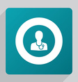 flat doctor icon vector image vector image