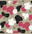 folk flowers hand drawn seamless pattern vector image vector image