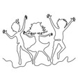 group of teenagers in a jump vector image