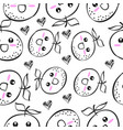 hand draw fruit doodle style vector image vector image