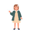 happy child waving with hand and saying hello hi vector image vector image