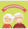 happy grandparents day with white hair vector image vector image
